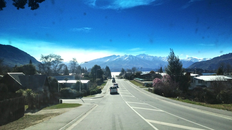 The drive back into Wanaka
